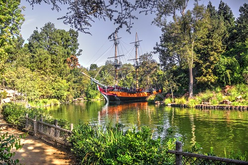 S.S. Columbia on the  Rivers of America