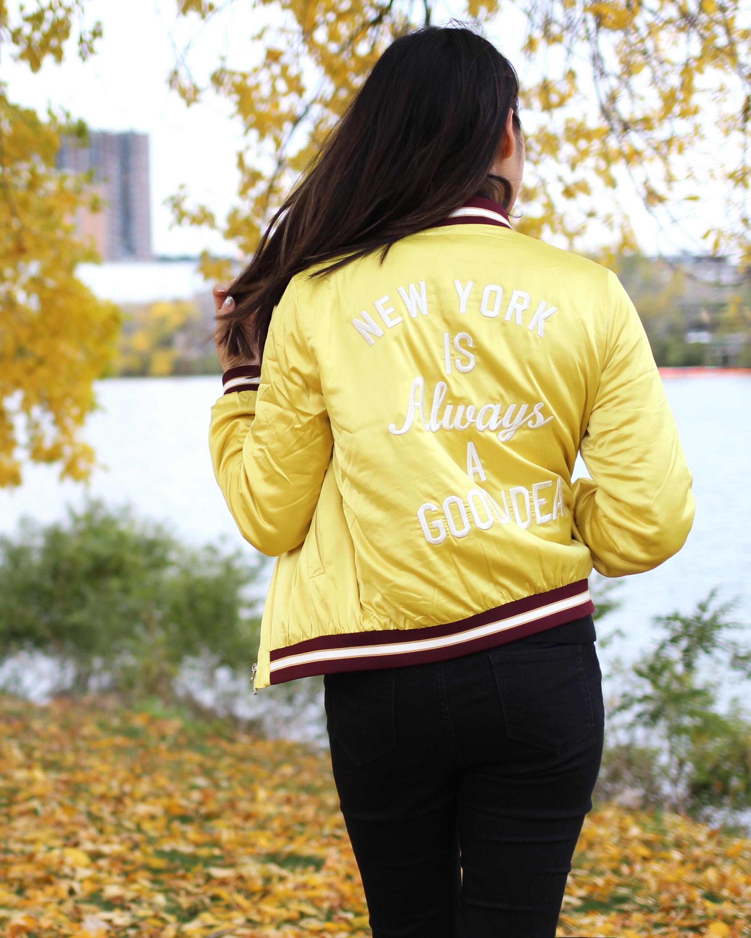 New York is always a good idea bomber jacket