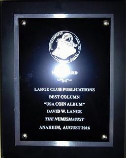 Lange 2016 NLG award plaque