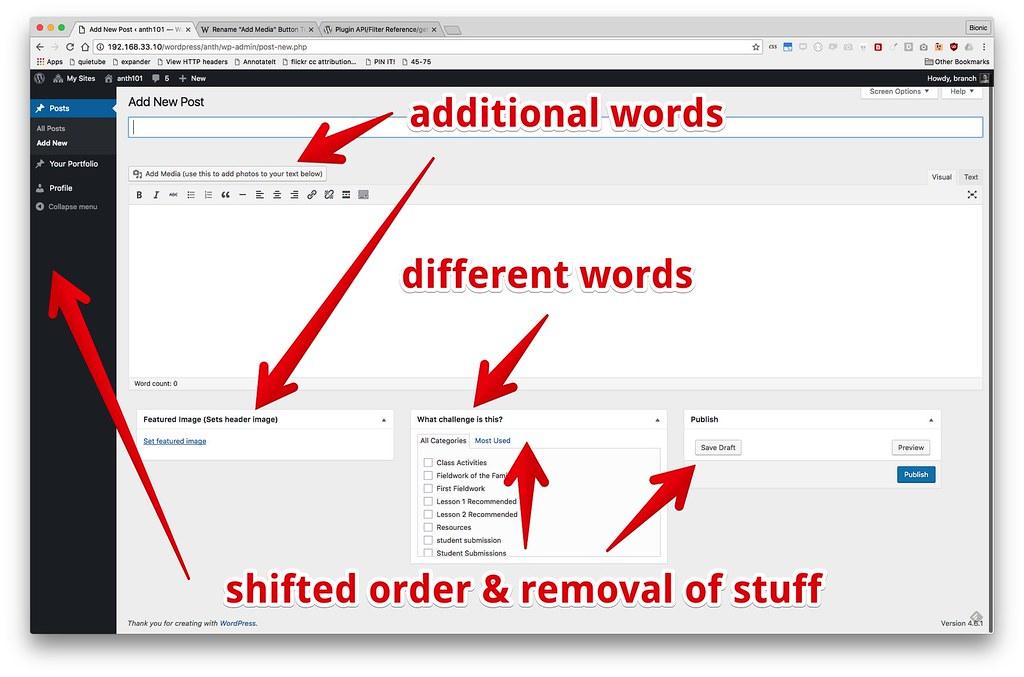 anti 101 - bare admin editor