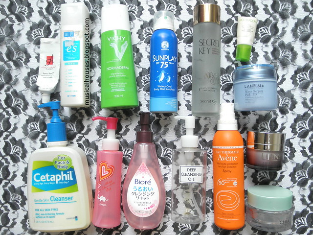 Skincare Empties Cleanser Moisturizer Toner Lotion Sunscreen Makeup Remover Oil