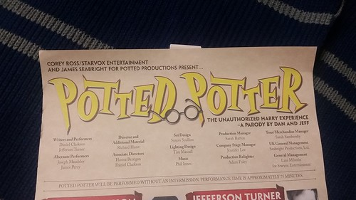 Potted Potter Program Scroll