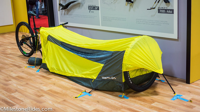 I did see 2 different approaches to using your bike as an integrated structure of a tent. Bicycle accessory maker Topeak pitched up their bike tent named ... : topeak tent - memphite.com