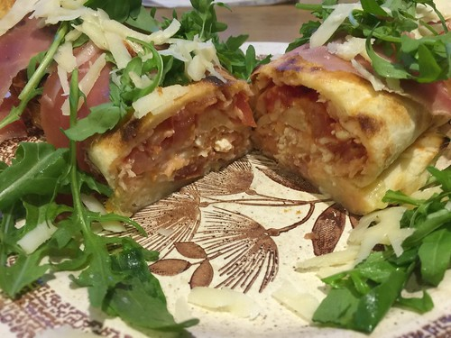Pizza Rotolo - Lateral cut / Querschnitt