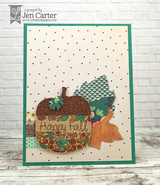 Jen Carter Pumpkin Flower Stamps Stitched Pumpkin Acorn 2