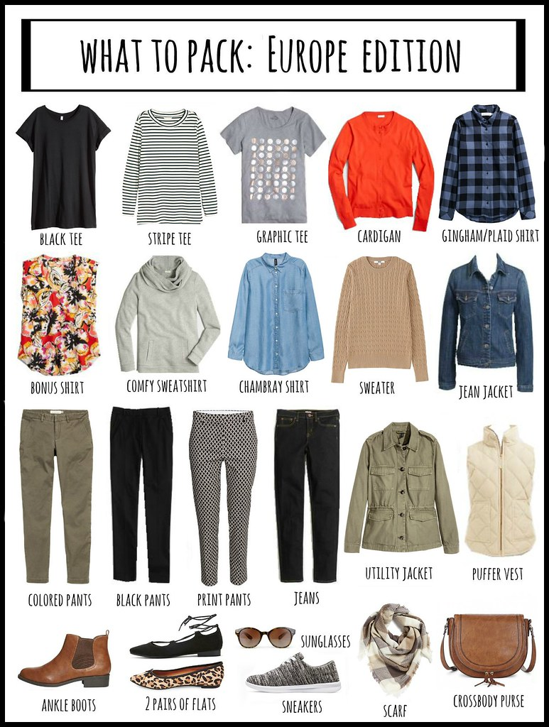 what to pack Europe two weeks in the fall | Style On Target blog
