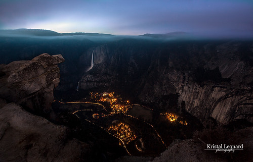 Yosemite Valley from Glacier Point--5 minute exposure | by Kristal Leonard