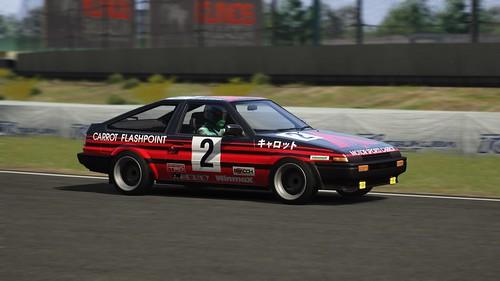 Toyota AE86 - Advan Carrot Racing - Keiichi Tsuchiya - Fuji Freshman Series 1984 (3)