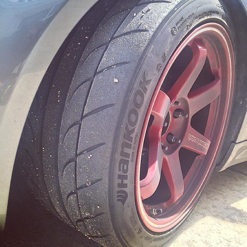 No point of buying track tires if you don't track it 🙇 #hankook #trackrat #te37rt #abrhouston #natsukashigarage