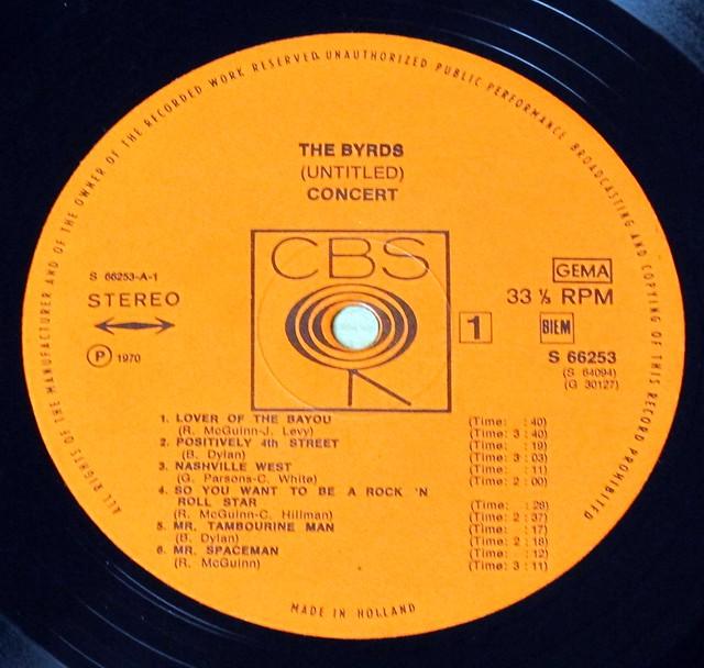 "BYRDS UNTITLED FOC 12"" LP VINYL"