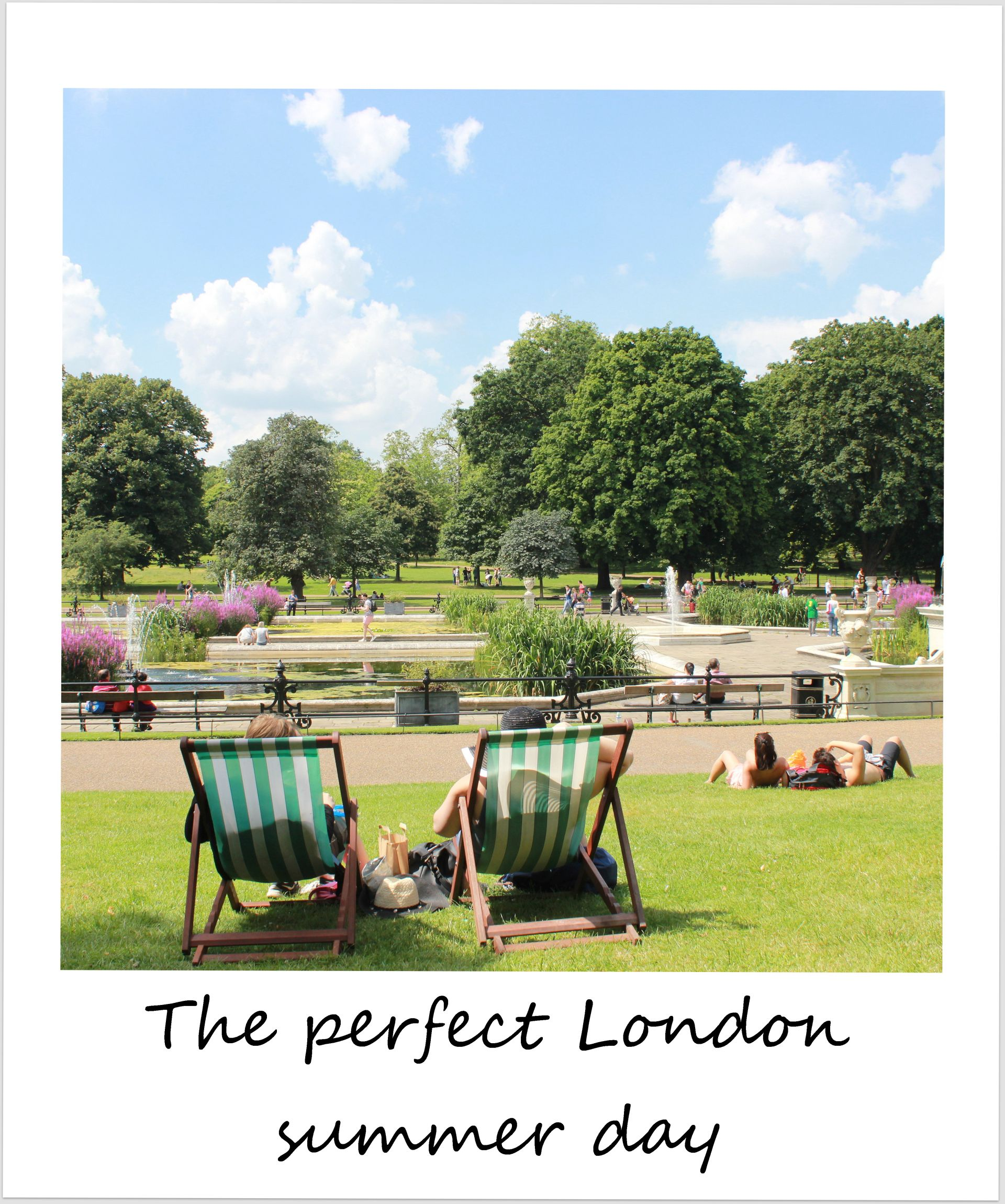 polaroid of the week england london kensington gardens