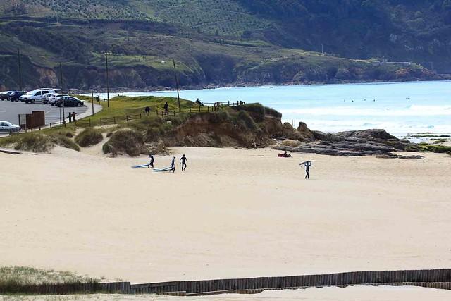 Comienzo de sesión en playa