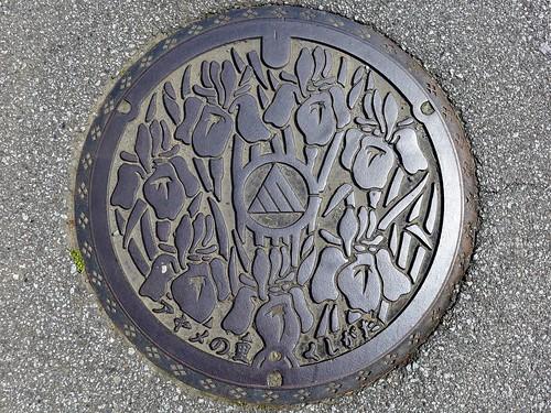 Kushigata Yamanashi, manhole cover (山梨県櫛形町のマンホール)