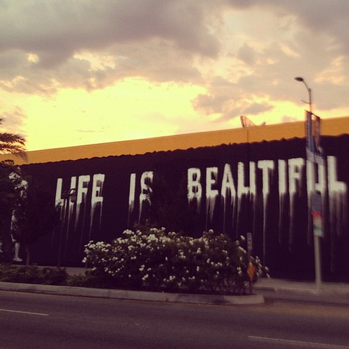 Life Is Beautiful street art | by JackMcLoughlin