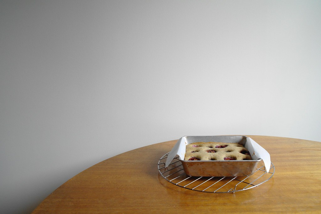 baked plum cake