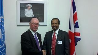 UK Minister Alistair Burt meets with Mr Dr Abdul Samad Abdullah, Foreign Minister of the Maldives at the UN General Assembly | by UKUnitedNations