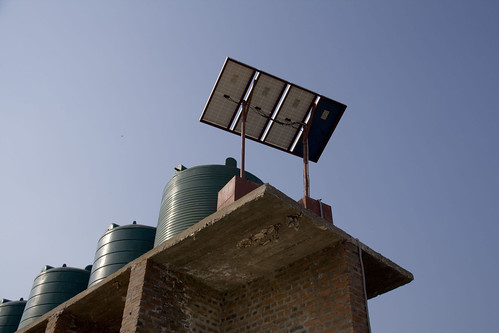 Energy can be saved through solar-powered water tanks. Credit: Kristin Palitza/IPS | by IPS Inter Press Service