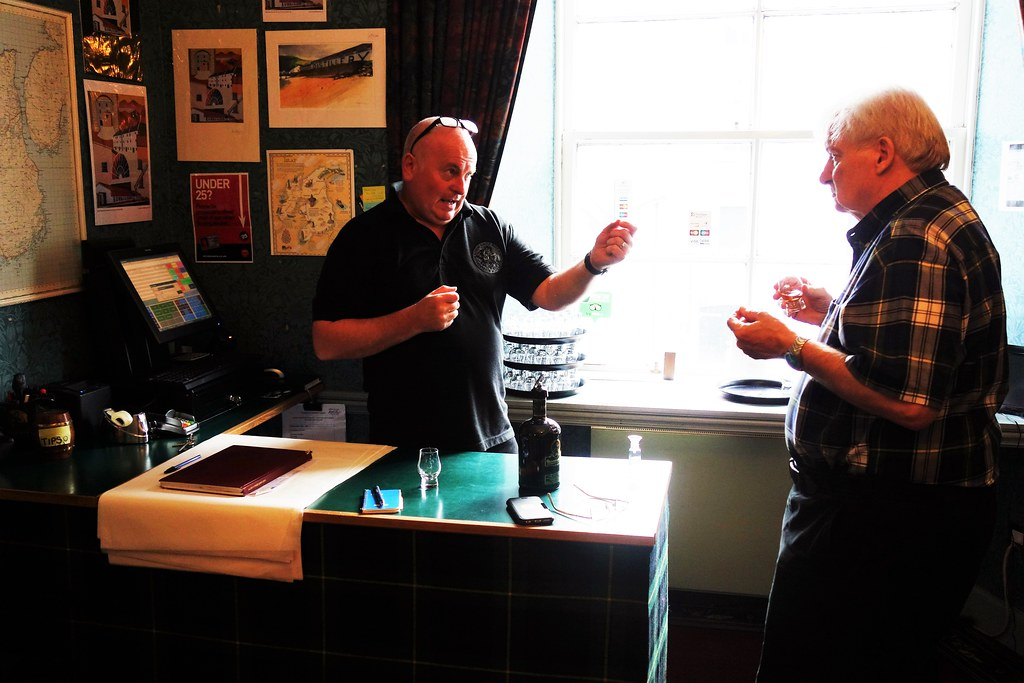 Whisky tasting at Bunnahabhain Distillery, Islay, Scotland