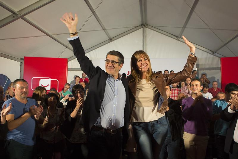 Patxi López e Idoia Mendia en Barakaldo