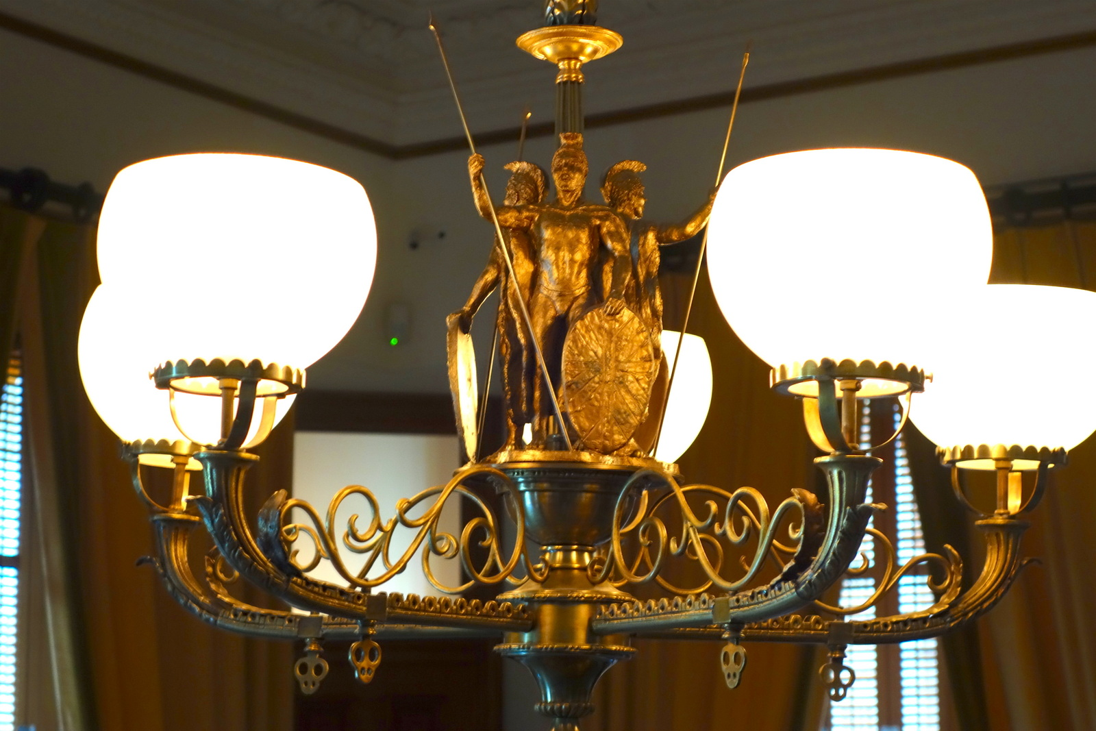 Chandelier, Iolani Palace. From Digging Deeper into Hawaiian History on the Hawai'i Monarchs Tour