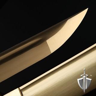 Auway-samurai-sword-bamboo-tsuba-gold-blade
