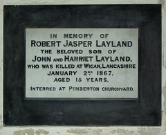 Killed at Wigan, Lancashire