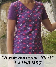 S wie SommerShirt Extra lang