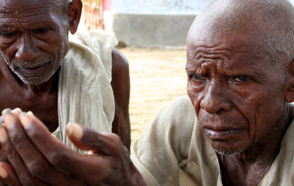 Elderly Men Begging In India