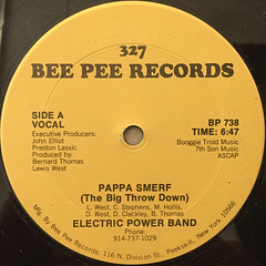 ELECTRIC POWER BAND:PAPPA SMERF(THE BIG THROW DOWN)(LABEL SIDE-A)