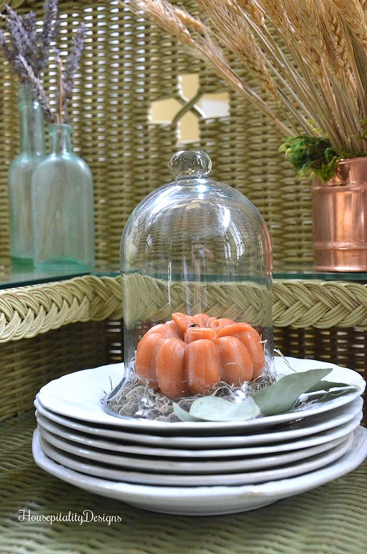 Pumpkin candle - Cloche - Ironstone - Housepitality Designs