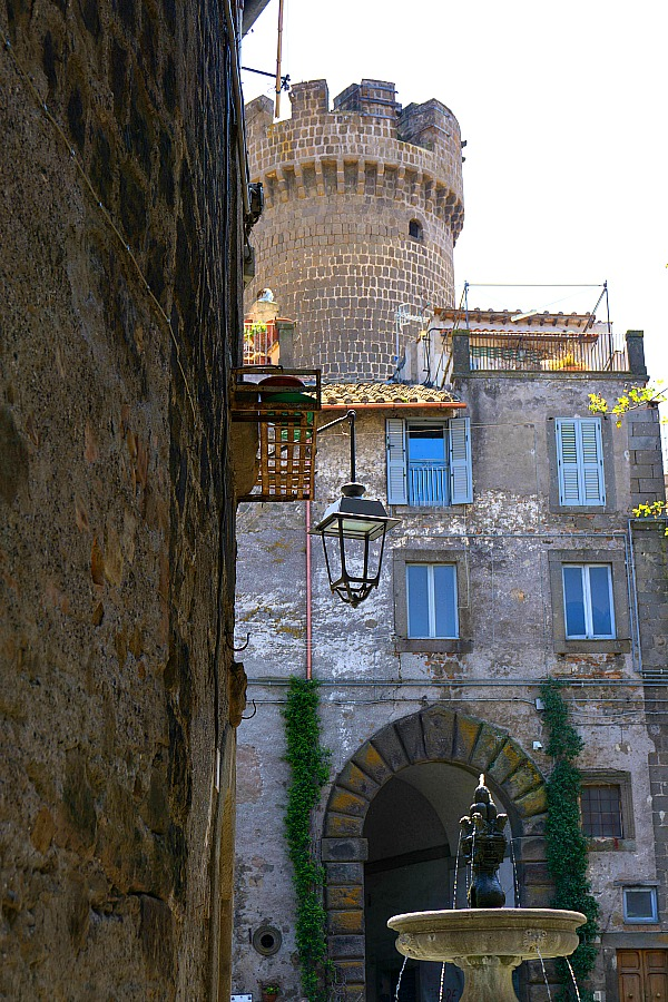 Picturesque Courtyard in Bagnaia Italy