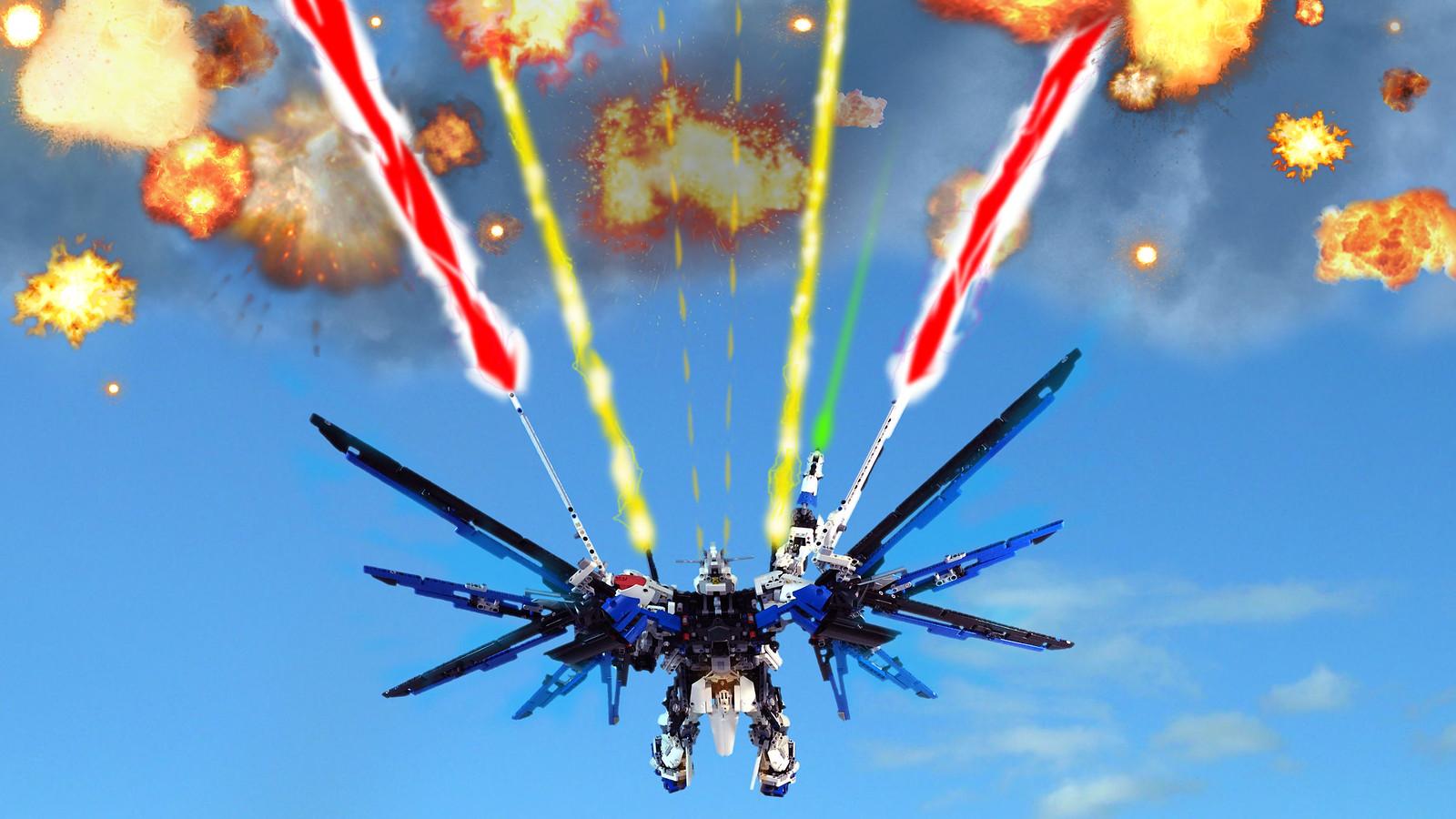 Moc Freedom Gundam Zgmf X10a Lego Sci Fi Eurobricks Forums