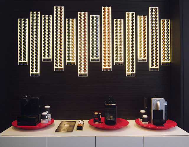 Nespresso pop-up boutique, tasting station