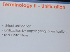 Terminology - Unification