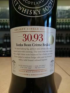 SMWS 30.93 - Tonka Bean Creme Brulee