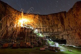 Trajectory (Wire Wool Spinning & Star Trails), Jurassic Coast | by flatworldsedge