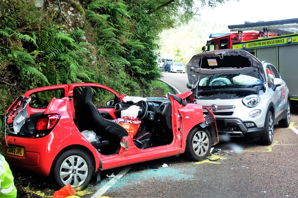 Road Traffic Accident, A83, Argyll, Scotland