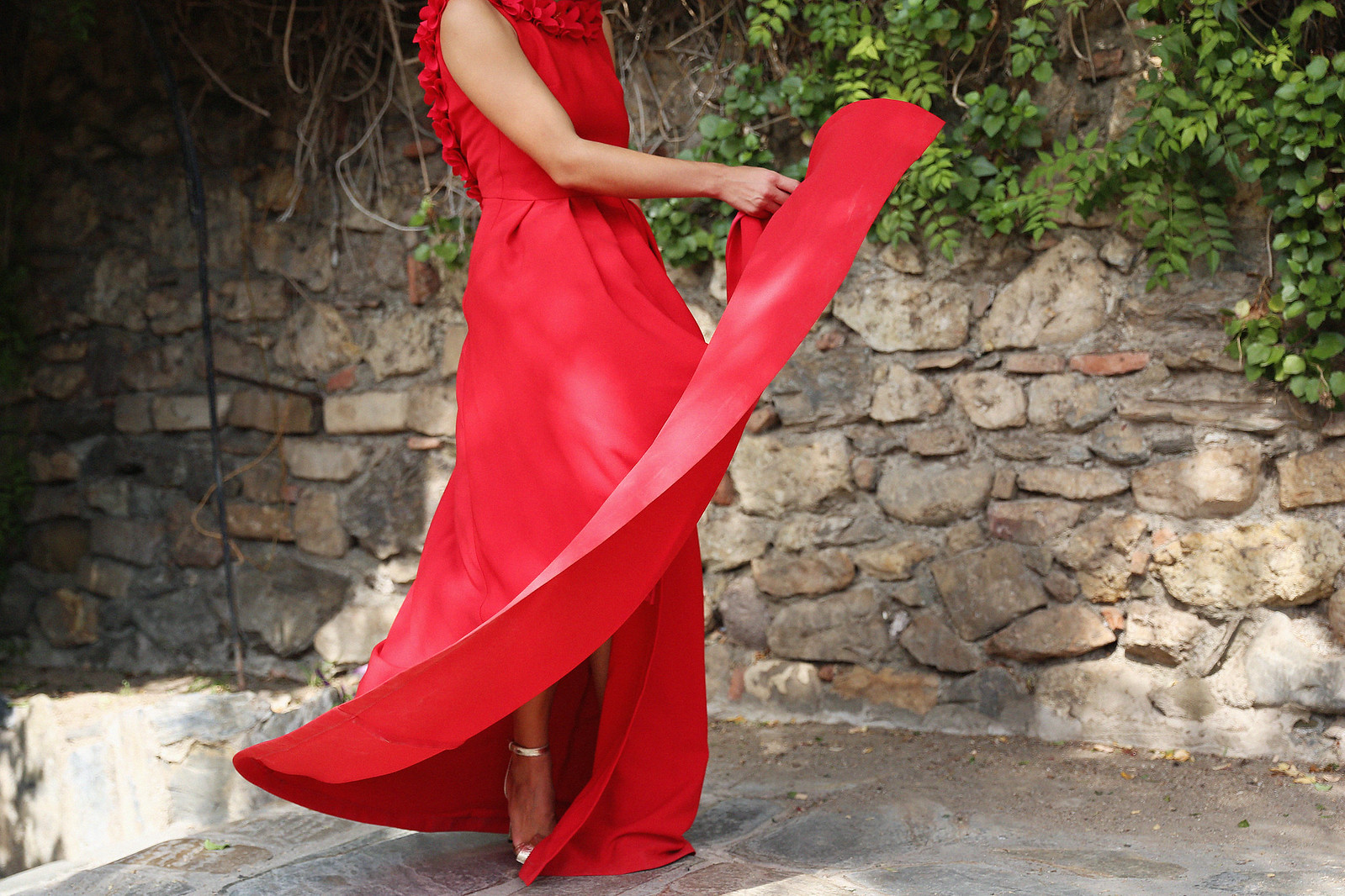 Jessie Chanes Seams for a Desire Apparentia Red Long Dress-7
