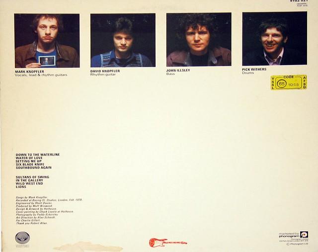 DIRE STRAITS SELF-TITLED FIRST ALBUM vertigo england UK