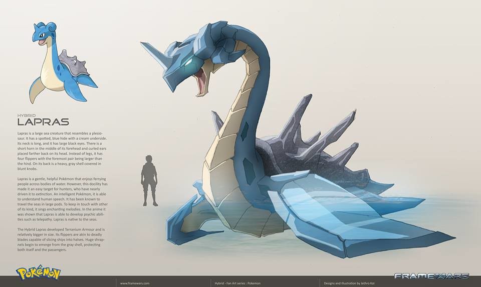 Metal Hybrid Pokemon - Lapras - by Frame Wars