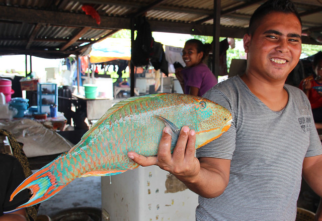 Fish vendor in Dili, Timor-Leste. Photo by Holly Holmes, 2013