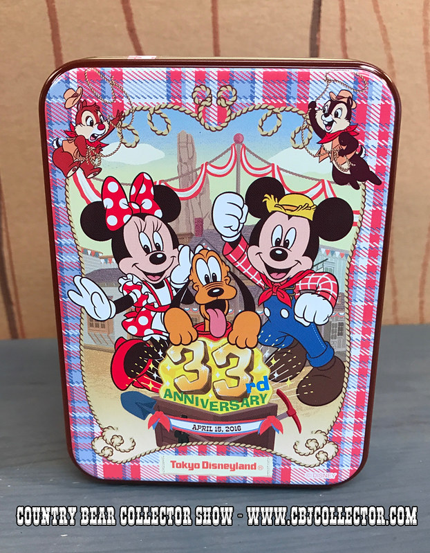 2016 Tokyo Disneyland 33rd Anniversary Tin and Biscuits - Country Bear Jamboree Collector Show #064