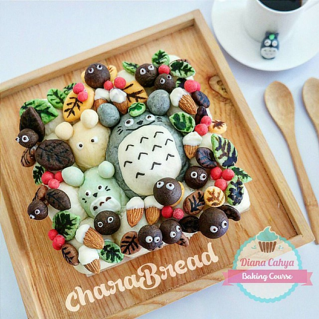 CharaBread for breakfast today ^^ Thank God for the blessed day :) #DianaCahyaEffect #CharaBread #CharacterBread #BakingCourse #CuteBread #Jakarta #HandsOnClass #BukanKelasDemo #PesertaPraktekSendiri #BakingClass #FunClass #DecoBread