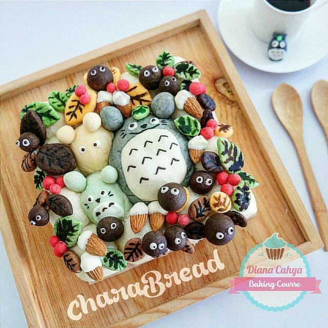 CharaBread for breakfast today ^^ Thank God for the blessed day :) #DianaCahyaEffect #CharaBread #CharacterBread #BakingCourse #CuteBread #Jakarta #HandsOnClass #BukanKelasDemo #PesertaPraktekSendiri #BakingClass #FunClass #DecoBread