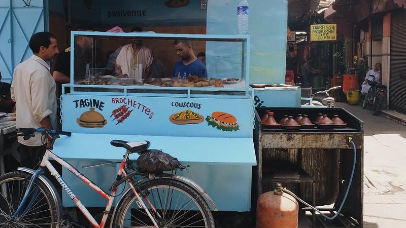 Food stalls in the Marrakech medina