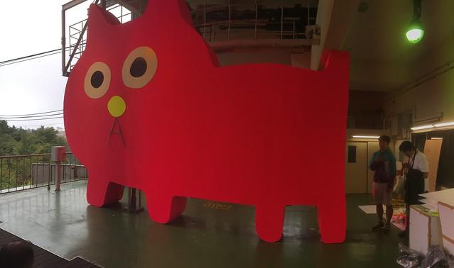 六甲有馬ロープウェーの駅に大きな猫