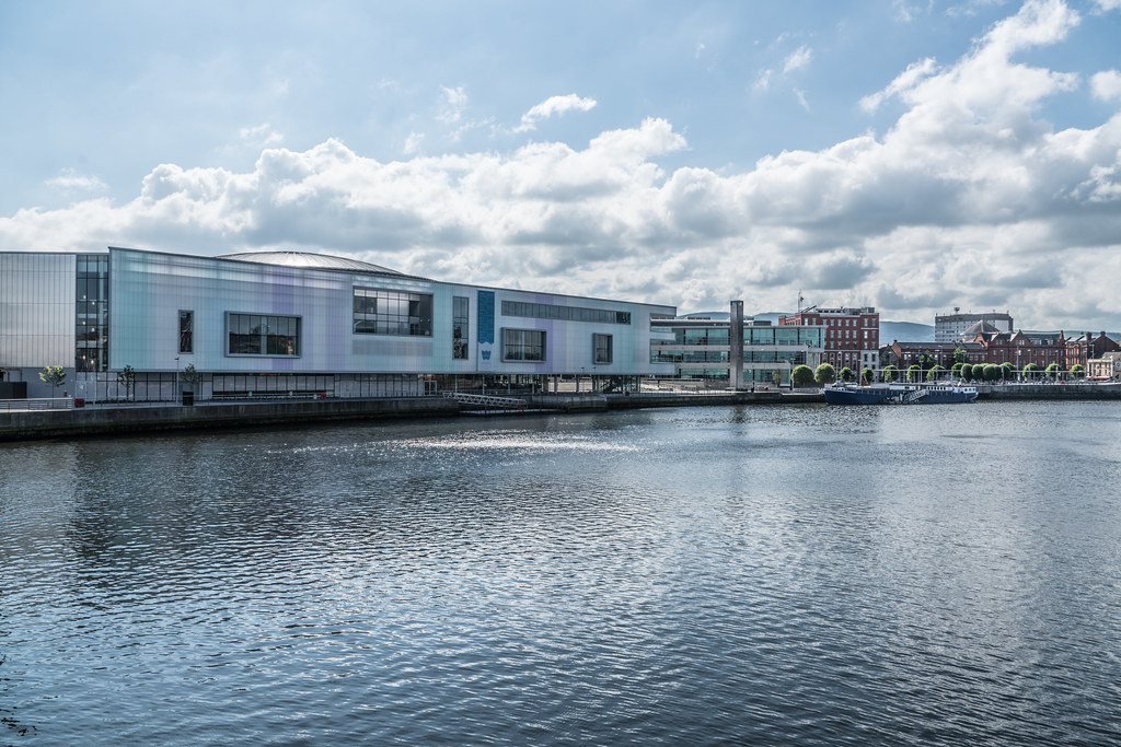 THE WATERFRONT HALL IN BELFAST [WITH NEW EXTENSION]-121114