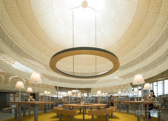 Study space of Gifu City Chuo Library (岐阜市立中央図書館)