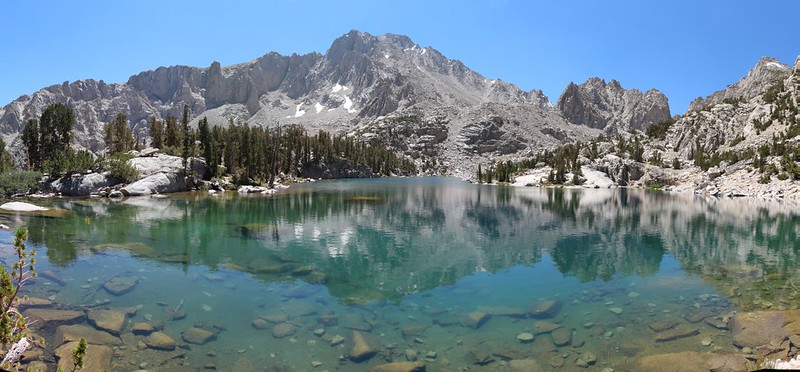 Bench Lake panorama and University Peak