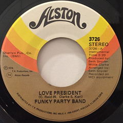 FUNKY PARTY BAND:LOVE PRESIDENT(LABEL SIDE-A)